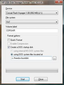 HP USB Disk Storage Format Tool v2.1.8
