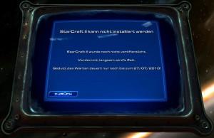 StarCraft 2 Installer verweigert Installation bis Release