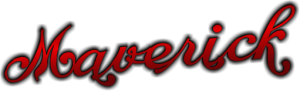 Maverick Schriftzug ohne Schnörkel