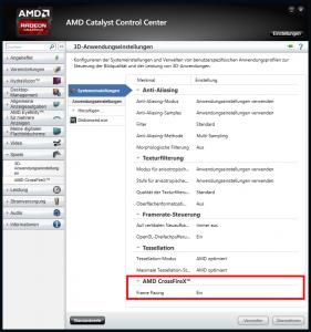 Frame Pacing verhindert Mikroruckler bei CrossFire Systemen