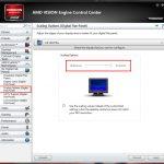 Einstellungen zum Overscan/Underscan im Catalyst Control Center