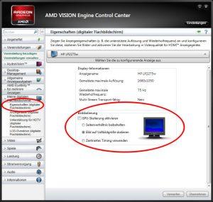 Die GPU Skalierung regelt die Seitenverhältnis korrekte Darstellung