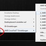 De-/Aktivieren des CrossFire Logos in 3D Anwendungen