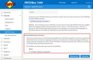 Let's Encrypt für MyFritz!
