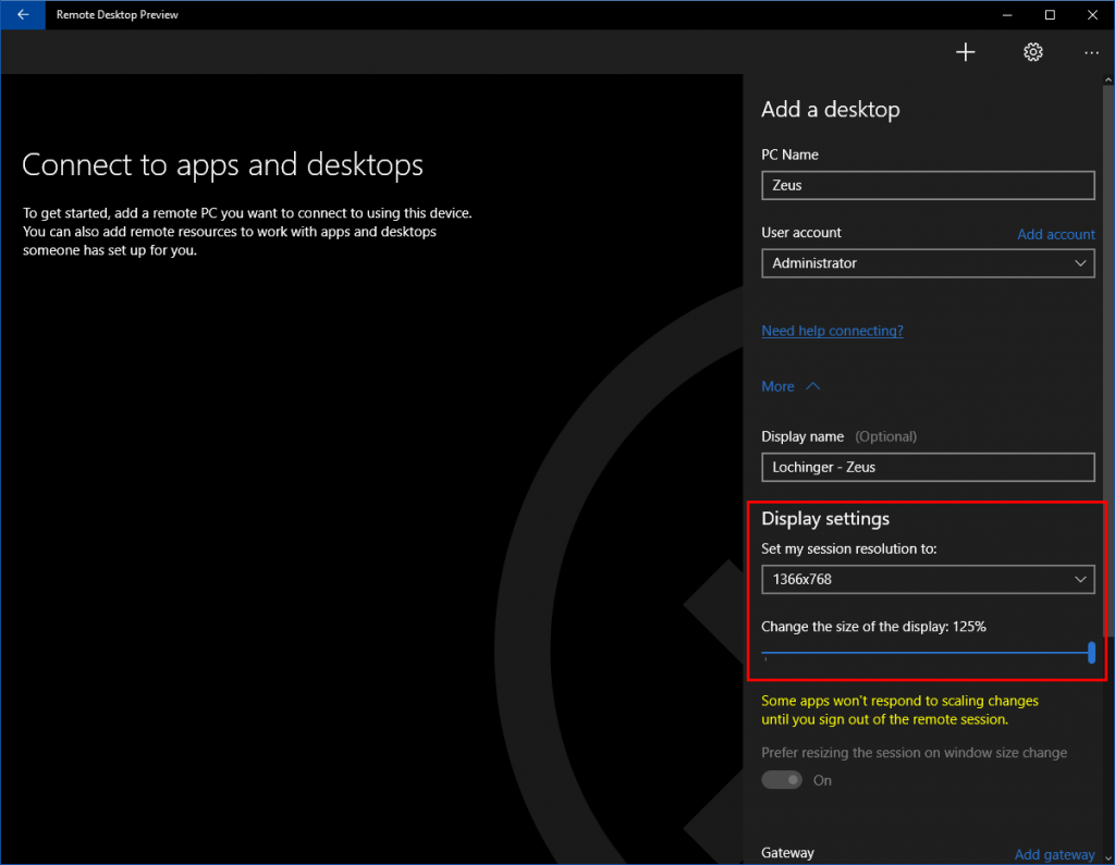 Demote Desktop UWP