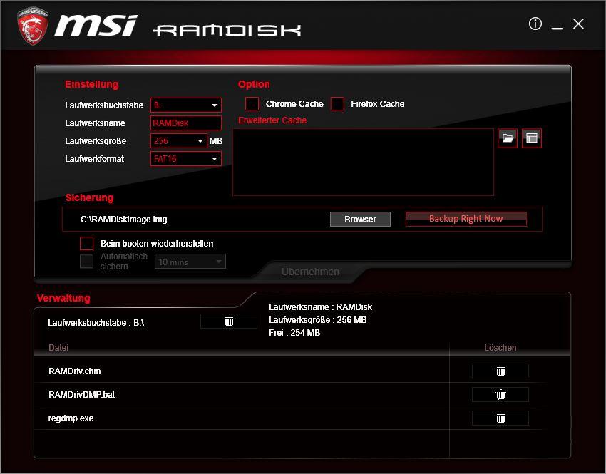 MSI RamDisk