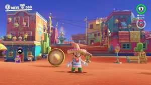 Mit Sombrero und Poncho mischen wir uns im Wüstenland in Super Mario Odyssey unter die Einheimischen