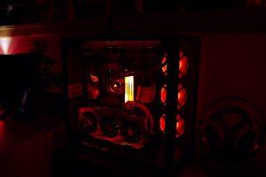 Rechner bei Nacht