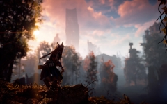 Sonnenuntergang in den Ruinen der Metallwelt