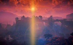 Sonnenuntergang über Meridian